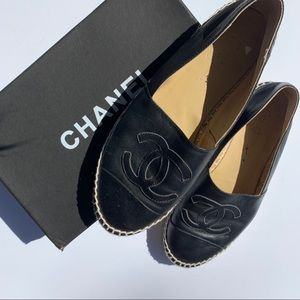 CHANEL Shoes - Chanel Lambskin Espadrilles